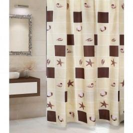 Sprchový záves Lastúra béžová, 180 x 200 cm