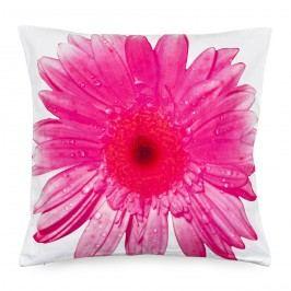 Obliečka na vankúšik ružový kvet, 45 x 45 cm