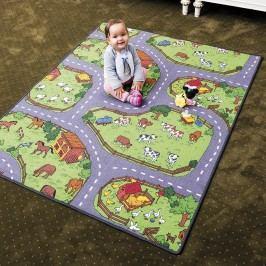 Vopi Detský koberec Farma, 140 x 200 cm