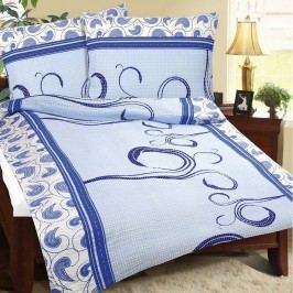 Krepové obliečky Modrý kašmír, 240 x 220 cm, 2 ks 70 x 90 cm