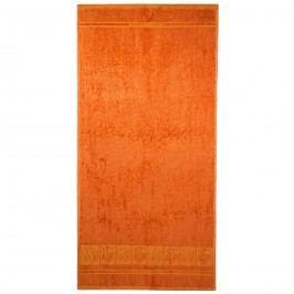 Osuška Bamboo Premium oranžová, 70 x 140 cm