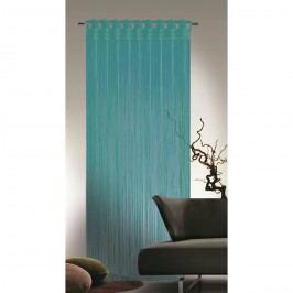 Povrázková záclona Cord tyrkysová, 90 x 245 cm