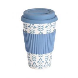 Excellent Houseware Bambusový termohrnček 425 ml, modrá