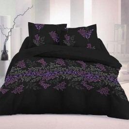 Kvalitex Saténové obliečky Victoria čierna Luxury Collection, 200 x 200 cm, 2 ks 70 x 90 cm
