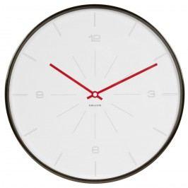 Karlsson 5644WH Designové nástenné hodiny, 40 cm