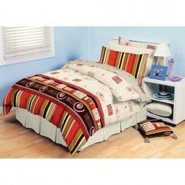 TipTrade bavlna obliečky Agnes Červené, 220 x 200 cm, 2 ks 70 x 90 cm, 220 x 200 cm, 2 ks 70 x 90 cm