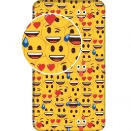 Jerry Fabrics Bavlnené prestieradlo Emoji, 90 x 200 cm