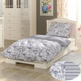 Kvalitex Bavlnené obliečky Provence Montera sivá, 220 x 200 cm, 2 ks 70 x 90 cm