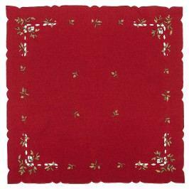 Vianočný obrus imelo červená, , 85 x 85 cm