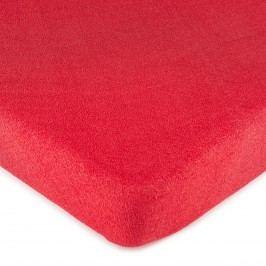 froté prestieradlo červená, 160 x 200 cm