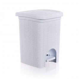 Kúpeľňový kôš Ratan biely,