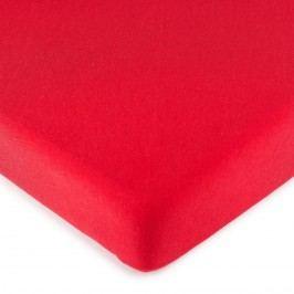 jersey prestieradlo červená, 90 x 200 cm