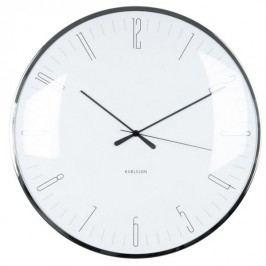 Karlsson 5623WH Designové nástenné hodiny, 40 cm