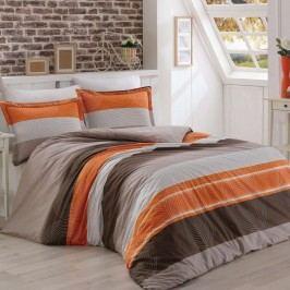 Kvalitex Bavlnené obliečky Delux Stripes lososová, 240 x 200 cm, 2 ks 70 x 90 cm