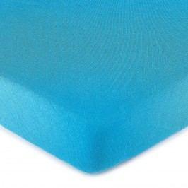 jersey prestieradlo tmavo modrá, 90 x 200 cm