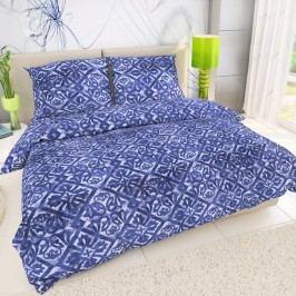 Kvalitex Bavlnené obliečky Porto modrá, 240 x 200 cm, 2 ks 70 x 90 cm