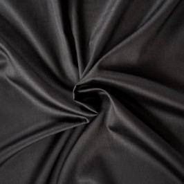 Kvalitex prestieradlo satén čierne, 180 x 200 cm