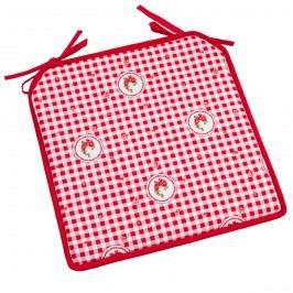 Sedák Elegant kocka červená, 40 x 40 cm