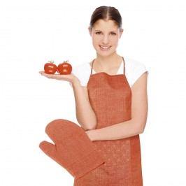 Zástera s chňapkou Rita Kvet oranžová