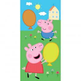 Tiptrade Detský uterák Prasiatko Peppa a George s balónikmi, 30 x 50 cm