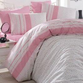 Bedtex obliečky bavlna Defne Ružové, 140 x 220 cm, 70 x 90 cm