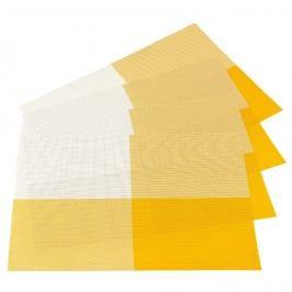 Prestieranie DeLuxe žltá 30 x 45 cm sada 4 ks