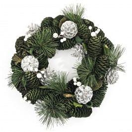 Vianočný veniec 30 cm strieborná, HTH