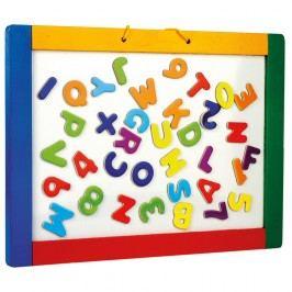Magnetická závesná tabuľa s písmenkami