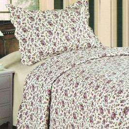 Prehoz na posteľ Flowers, 140 x 200 cm, 1x 50 x 70 cm, 140 x 200 cm