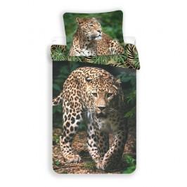Jerry Fabrics Bavlnené obliečky Leopard green, 140 x 200 cm, 70 x 90 cm