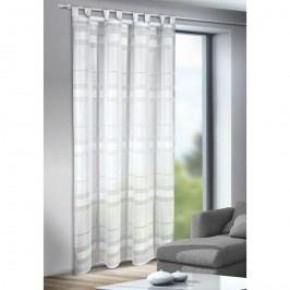 Záclona s pútkami Mandy biela, 135 x 245 cm, 135 x 245 cm
