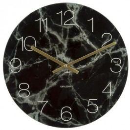 Karlsson 5618BK Designové nástenné hodiny, 40 cm
