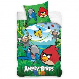 Bavlnené obliečky Angry Birds Jungle, 140 x 200 cm, 70 x 80 cm