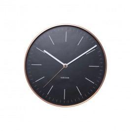 Karlsson 5507BK Designové nástenné hodiny, 28 cm