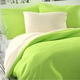 Kvalitex Saténové obliečky Luxury Collection svetlozelená/smotanová, 220 x 200 cm, 2 ks 70 x 90 cm