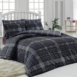 Tiptrade Bavlna obliečky Checker sivý, 140 x 220 cm, 70 x 90 cm