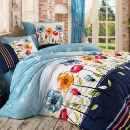 BedTex Bavlnené obliečky Amanda modrá, 220 x 200 cm, 2 ks 70 x 90 cm