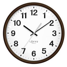 LAVVU LCS4041 - Tmavé drevené hodiny s plynulým chodom Essential Wood