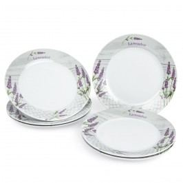 Jedálenský tanier plytký Levanduľa, 6 ks, 23 x 2,5 cm