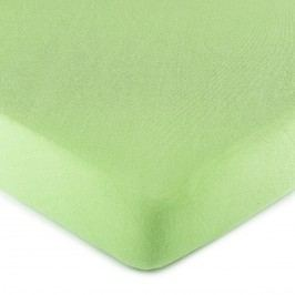 jersey prestieradlo zelená, 90 x 200 cm