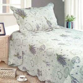 Prehoz na posteľ Levanduľa, 140 x 200 cm,  1x 50 x 70 cm