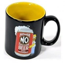 CurePink The Simpsons Keramický hrnček Homer No Beer 320 ml