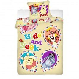 Jerry Fabrics Detské bavlnené obliečky Macko Pú balloon, 140 x 200 cm, 70 x 90 cm
