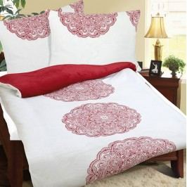 Obliečky mikroflanel Ornament červená, 140 x 200 cm, 70 x 90 cm