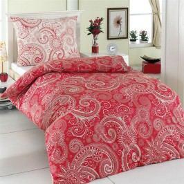 Night in Colours Bavlnené obliečky Sal červená/biela, 140 x 200 cm, 70 x 90 cm