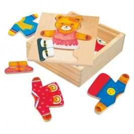 Puzzle šatníková skriňa Medvedica