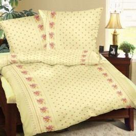 obliečky bavlna Kvítí žlté, 140 x 200 cm, 70 x 90 cm