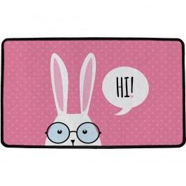 Vnútorná multifunkčná rohožka Hi bunny !, 75 x 45 cm