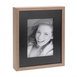 Fotorámček Wood, čierna + hnedá