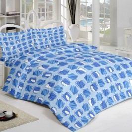 Kvalitex Krepové obliečky Squares modrá, 200 x 200 cm, 2 ks 70 x 90 cm
